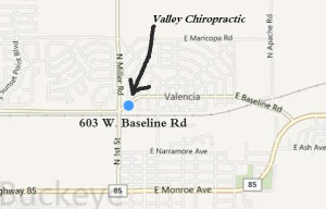 Valley Chiropractic Office Map
